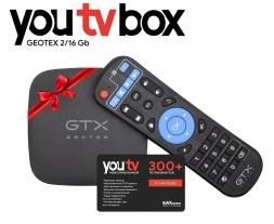 "Geotex Комплект тариф ""Максимальний"" от YouTV 12 мес + TV Box GTX-R1i 2/16Gb S905W"
