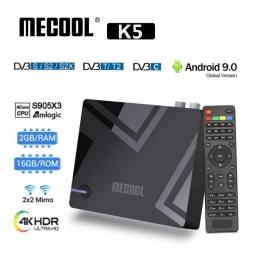 Mecool K5 2/16GB Amlogic S905X3 DVB-S2 DVB-T2 DVB-C Android 9.0