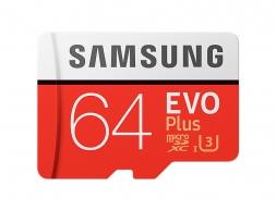 Samsung 64GB EVO Plus 100 Mb/s MicroSDXC UHS-I U3