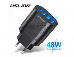 Зарядное устройство USLION 48W QC 3.0 4xUSB Black