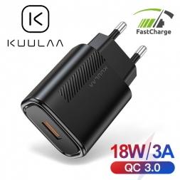 Зарядное устройство KUULAA 18W KL-CD11 USB QC3.0 Black