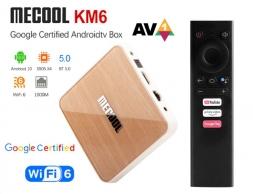 Mecool KM6 Deluxe 4/64GB Amlogic S905X4 AV1 AndroidTV 10