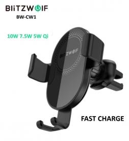 Автодержатель беспроводная зарядка BlitzWolf BW-CW1 10W Qi