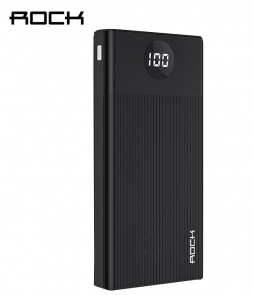 Rock M01 10000mAh Power Bank Dispay Black
