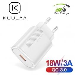 Зарядное устройство KUULAA 18W KL-CD11 USB QC3.0 White