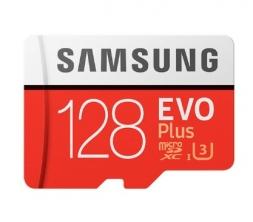 Samsung 128GB EVO Plus 100 Mb/s MicroSDXC UHS-I U3
