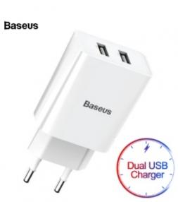 Зарядное устройство BASEUS Mini Dual USB White