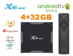 X96 Max Plus AndroidTV + G20S PRO S905x3 4/32GB TV Box