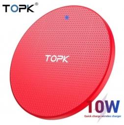 Беспроводная зарядка TOPK Wireless Qi 10W Red