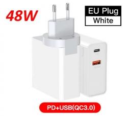 Зарядное устройство iHaitun 48W USB QC3.0 PD White