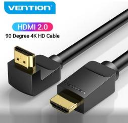 Кабель HDMI Vention 1м 90° AAR Black