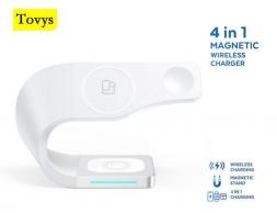 Зарядная станция Tovys 4 в 1 для IPhone, Apple Watch, AirPods, Samsung