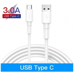 Кабель Baseus USB - Type-C 3A 27W PD QC 3.0 1м White