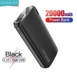 Kuulaa 20000mAh 2.1A Power Bank Black