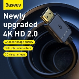 Кабель Baseus HDMI v2.0 4K 1м Black