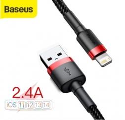 Кабель Baseus USB - Lightning 2.4A 1м Black/Red
