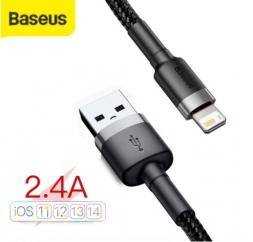 Кабель Baseus USB - Lightning 2.4A 1м Black/Grey