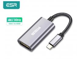 Переходник ESR Type-C to HDMI 4K видео адаптер, портативный конвертер