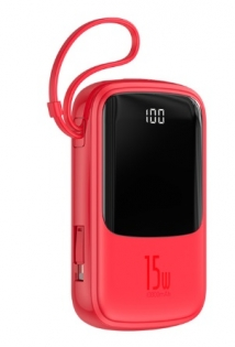 Baseus Qpow Digital Display 3A 10000 mAh Red for iPhone