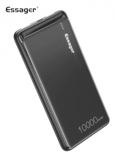 Essager 10000mAh Power Bank Black