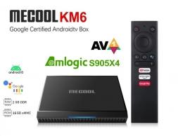Mecool KM6 Classic 2/16GB Amlogic S905X4 AV1 AndroidTV 10