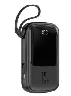 Baseus Qpow Digital Display 3A 10000 mAh Black for iPhone