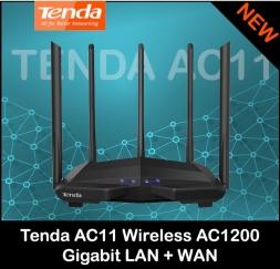Роутер TENDA AC11 двухдиапазонный 2.4/5.8 GHz MU-MIMO