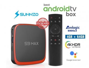 S9 Max AndroidTV 4/64GB Amlogic S905X3